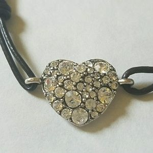 Fossil Jewelry - Heart Bling bracelet with Fossil button closure